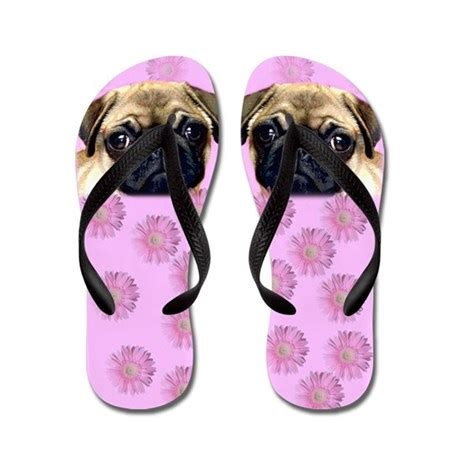 presents for pug pug flip flops by ritmoboxers