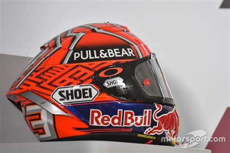 Helm Marquez helmet of marc marquez repsol honda team at qatar gp