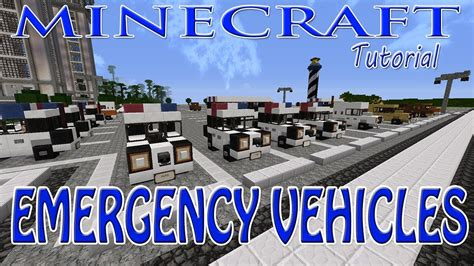 minecraft police car minecraft emergency vehicles tutorial police cars
