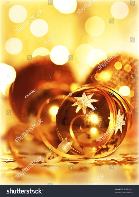 golden house miniature gold toy stock illustration golden baubles christmas tree ornament winter holidays