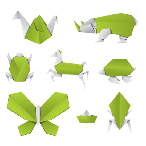 Free Origami - free vector origami animals freevectors net