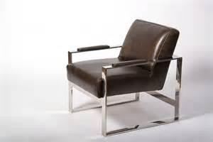 fauteuil en cuir chrome weston fauteuil club cuir
