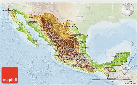 physical maps of mexico physical 3d map of mexico lighten