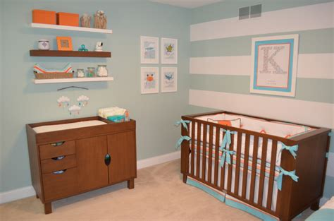 aqua and orange inspired nursery project nursery