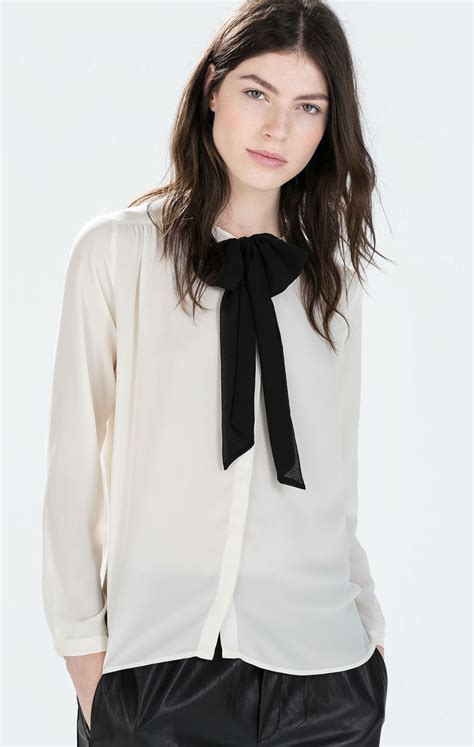 Import Bkk Zara Blouse 21 original womens blouses with bow ties sobatapk