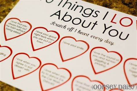 6 best images of 100 printable i love you 52 reasons why