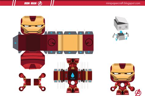 Ironman Papercraft - papercraft iron and irons on