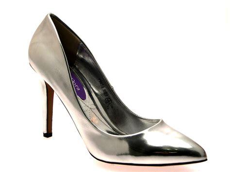 metallic high heel shoes womens metallic pointed toe court stiletto high heels