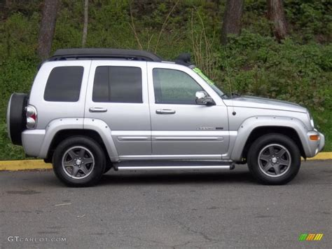 silver jeep liberty bright silver metallic 2003 jeep liberty renegade 4x4