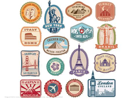Paper To Make Stickers - printable vintage travel stickers free printable