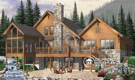 walk out basement house plans hillside walkout house plans house plans home designs