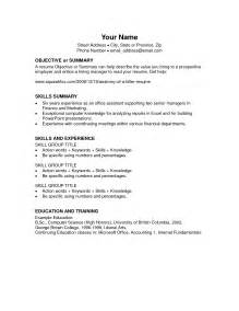 Microsoft Office Templates Cv by Free Resume Templates For Microsoft Word Resume