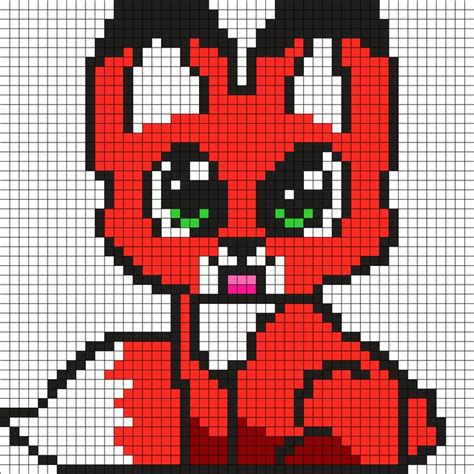 baby fox by butterscotchey on kandi patterns tucker