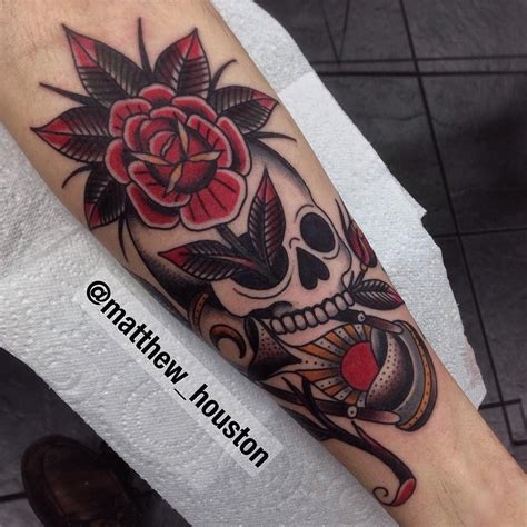 rose hourglass tattoo matthew houston subtle skull and hourglass based
