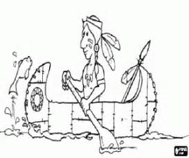 indian canoe coloring page native americans or indians coloring pages printable games 2