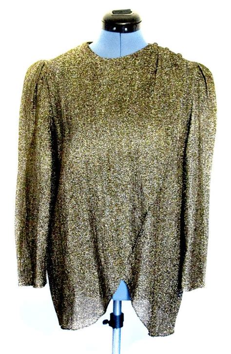 Blouse Big Size Gliter Bintang 4 Sparkly Wrap Front Gold Blouse Size Small Gold Blouse