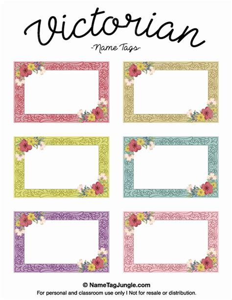 Family Feud Name Tag Template Awesome Free Printable Victorian Name Tags The Template Can Also Family Feud Name Tag Template