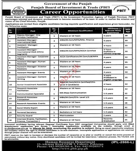 Mba After Mpa by Punjab Board Of Investment Trade Pbit Lahore 2018