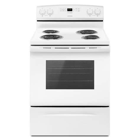 amana 30 in 4 8 cu ft electric range in white