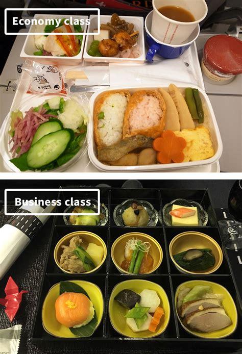 vs food airline food economy vs class 10 pics bored panda