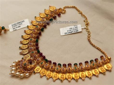 Gold Angti Disain by Kasulaperu Necklace Designs Jewellery Designs