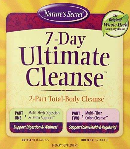 Ace 7 Day Detox Reviews by Nature S Secret 7 Day Ultimate Cleanse Supplement 72