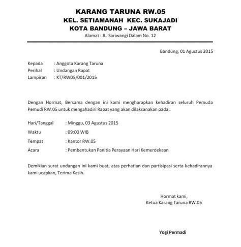 Contoh Surat Undangan Audiensi Suratmenyuratnet