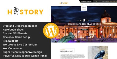 Museum V1 3 Responsive Theme history museum exhibition theme by wpmines