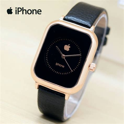 Keunggulan Jam Tangan Apple ready 7 warna jam tangan pria wanita apple iphone leather gold ap002 shopee indonesia
