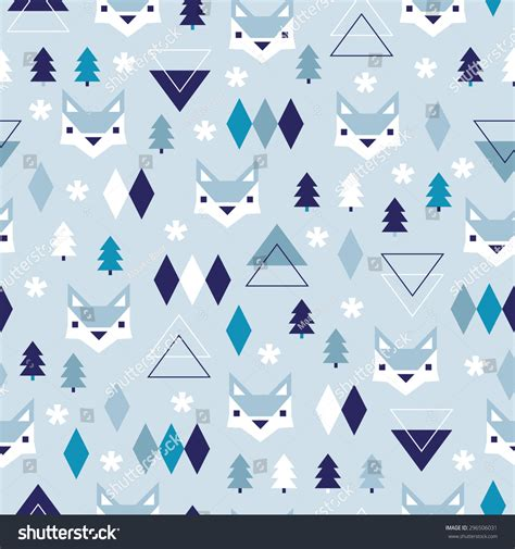 pastel winter pattern seamless winter blue geometric pastel holidays stock