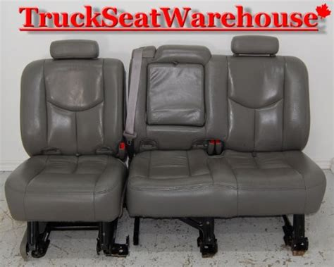 tahoe 2nd row bench seat chevy truck tahoe yukon xl 2nd row grey leather bench seat
