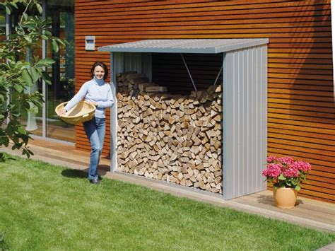 the backyard store shed log storage firewood store wood burning stove