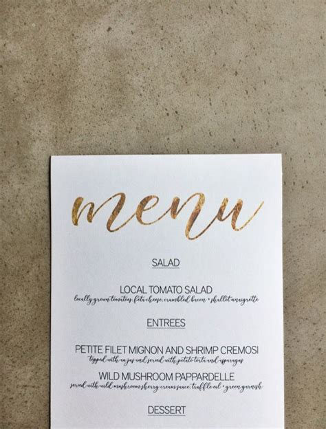 Wedding Menu Font Free by Free Gold Menu Template Microsoft Word Simple