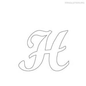 Letter Stencils Template by Free Printable Alphabet Stencils Stencil Letters H