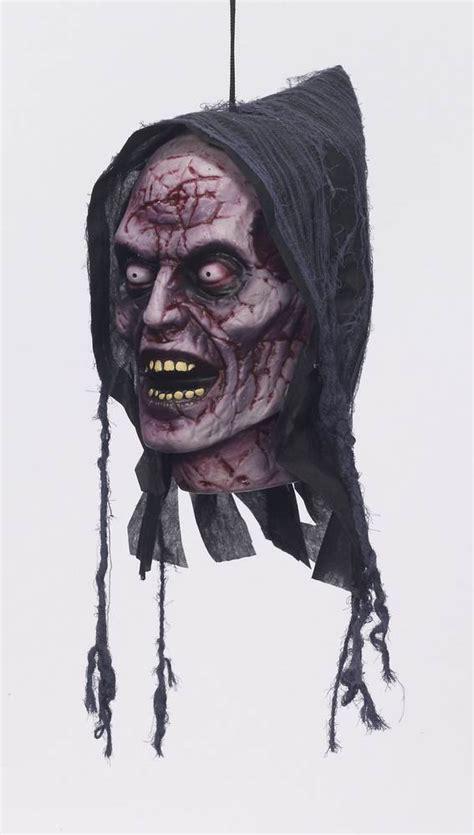 hanging zombie head prop
