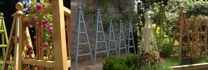 obelisk garten wooden garden obelisks oak accoya and painted obelisks