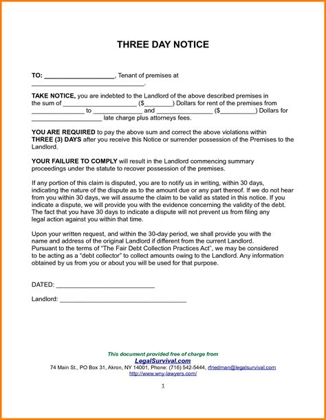 renters 30 day notice template free notice of lease termination letter from landlord to