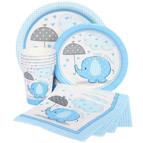 Blue Elephant Baby Shower Theme by Blue Elephant Baby Shower Decor Elephant Baby Shower