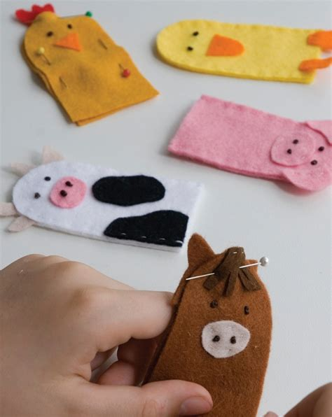 craft how to make finger puppets