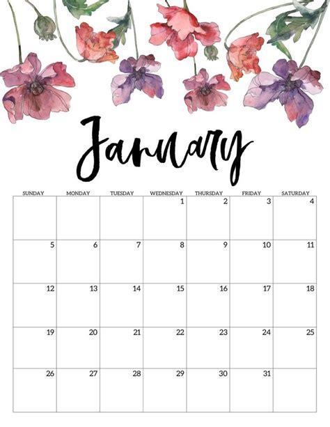 printable calendar floral print calendar  printable calendar calendar design