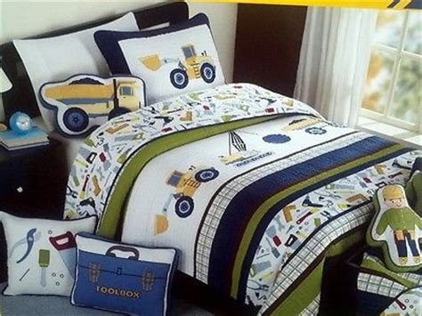 construction bedding twin boy zone twin construction quilt bedding 6pc set cotton w