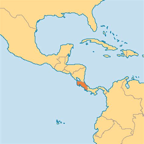 where is costa rica on a world map costa rica operation world