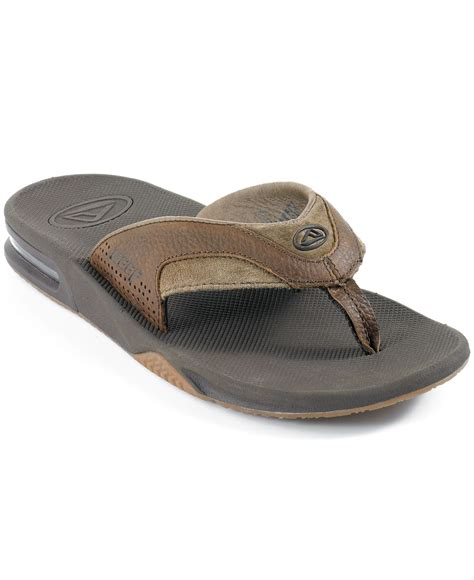 reef sandals with bottle opener lyst reef leather fanning bottle opener sandals in