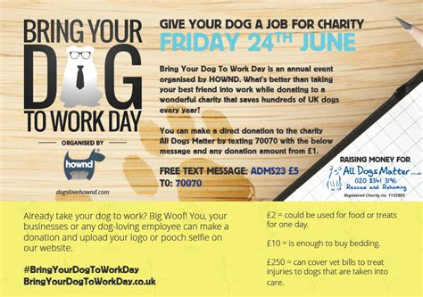 Bring A To Your Day by Bring Your To Work Day 2016 All Dogs Matter
