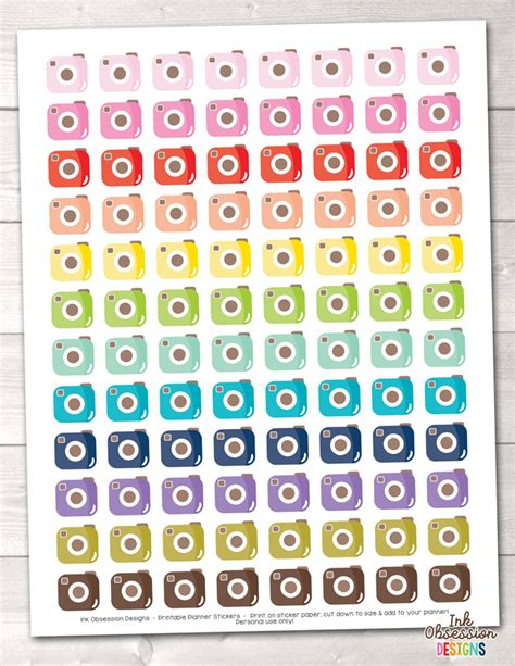 cute planner stickers free printable cute cameras printable planner stickers instant download