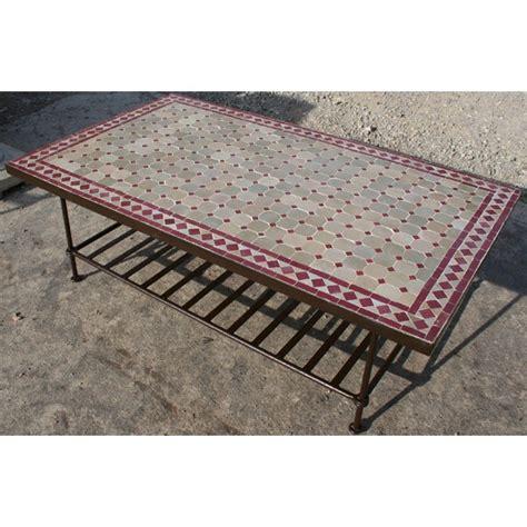 table basse en zellige mosa 239 que de c 233 ramique et fer forg 233