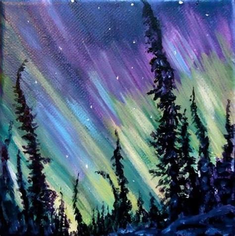 paint nite irvine daily paintworks quot northern lights quot original