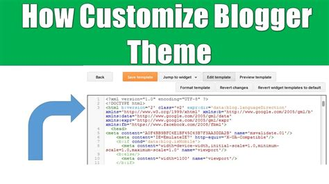 blogger themes html codes how to customize blogger theme edit html code hindi