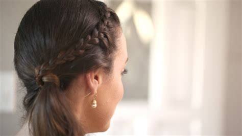 french choti hairstyle front french braid create this hairstyle kin beauty