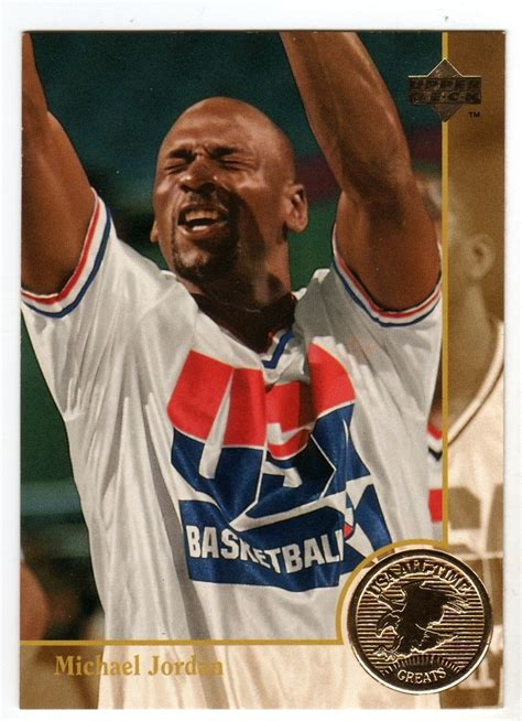 Michael Gift Card - michael jordan 1996 upper deck usa basketball all time greats card basketball cards